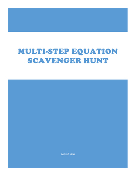 Multi-Step Equation Scavenger Hunt