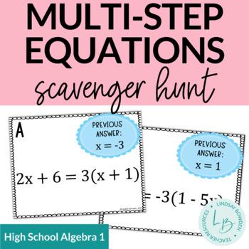 Multi-Step Equation Scavenger Hunt