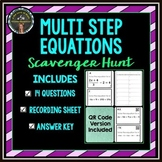 Multi-Step Equation: Scavenger Hunt