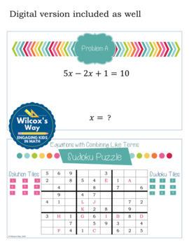 Multi Step Equation Sudoku Game