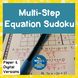Multi Step Equation Sudoku Game