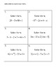 Multi-Step Equation Speed Dating