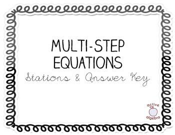 Multi-Step Equation Stations