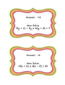 Multi-Step Equation Trail