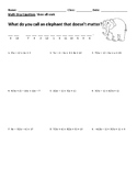 Multi Step Equations 2 Joke Worksheet