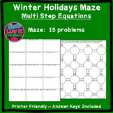 Christmas Math Solving Equations Multi Step Equations Maze