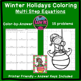 Christmas Math Solving Equations Multi Step Equations Color by Number