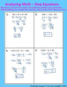Multi - Step Equations