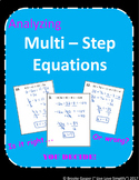Multi - Step Equations