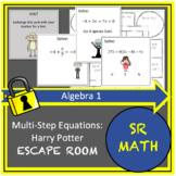 Multi-Step Equations:  Algebra Escape Room: Harry Potter