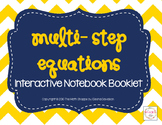 Multi-Step Equations Booklet