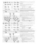 Multi-Step Equations Checklist