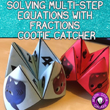 Multi-Step Equations Activity - Cootie Catcher