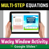 Multi Step Equations Digital Distance Learning Activity