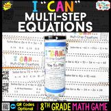 8th Grade Math Game   Multi Step Equations