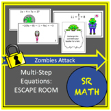 Multi-Step Equations Escape Room.  Zombie Attack!
