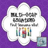 Multi-Step Equations Find Someone Who Activity