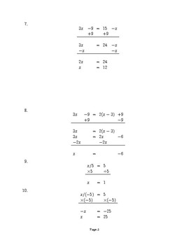 Multi-Step Equations: Find the Mistake !