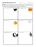 Multi-Step Equations Halloween Circuit Worksheet (and key!)