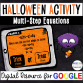 Multi-Step Equations - Halloween Digital Activity