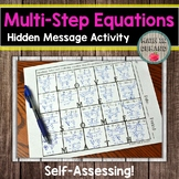 Multi-Step Equations Hidden Message Activity