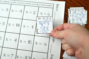 Multi-Step Equations Hidden Message Activity