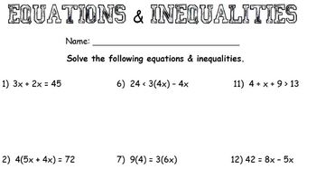 Free Worksheets Liry   Download and Print Worksheets   Free on further Alge Worksheets   Free    monCoreSheets in addition Two Step Inequalities worksheets as well  together with  also Systems of Inequalities Word Problems also  additionally Alge Worksheets   Free    monCoreSheets besides Multi Step Equations   Inequalities Worksheet by Chantel Johnson moreover Multi Step Inequalities with Mixed Operations   EdBoost additionally Quiz   Worksheet   Equations   Inequalities with Rational Functions in addition Alge Worksheets   Free    monCoreSheets together with Solving Equations Worksheets   Mychaume together with Solving Equations with Variables Worksheets Photo Best solving as well 28 solving Inequalities Worksheet Teach Nology also Solving Rational Equations And Inequalities Worksheet. on solving equations and inequalities worksheet