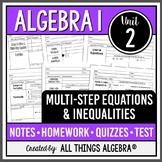 Multi-Step Equations and Inequalities (Algebra 1 - Unit 2)
