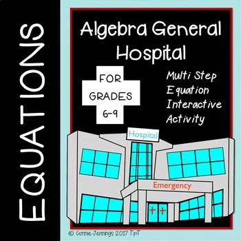 Multi Step Equations Interactive Activity