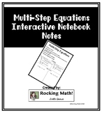 Multi-Step Equations Interactive Notebook Notes
