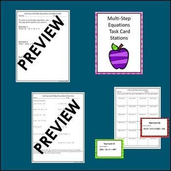 Multi-Step Equations Lesson Algebra Lesson