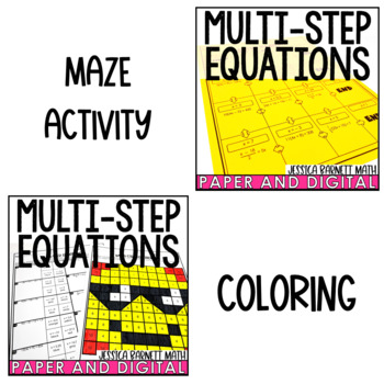 Multi-Step Equations Lesson Bundle