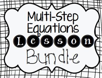 Multi– Step Equations Lesson Bundle