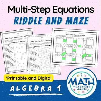 Multi-Step Equations: Line Puzzle Activity