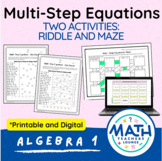 Multi-Step Equations: Line Puzzle Activity
