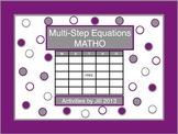 Multi-Step Equations MATHO