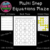 Solving Equations - Multi Step Equations 2 Mazes
