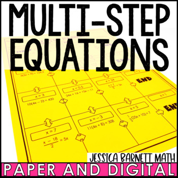 Multi-Step Equations Maze Activity