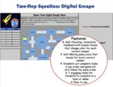 Multi-Step Equations No-Prep Space Crew Digital Escape (Go