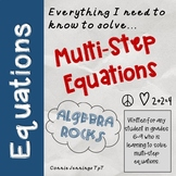 Multi Step Equations Notes and Practice