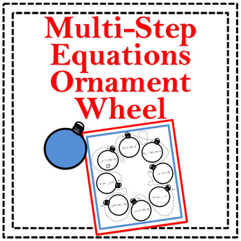 Multi-Step Equations Ornament Wheel