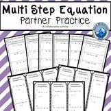 Multi-Step Equations Partner Practice