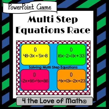 Multi Step Equations PowerPoint Race
