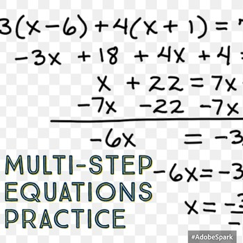 Multi-Step Equations Practice