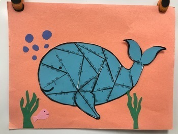 Multi-Step Equations Practice Whale Puzzle with Distribution for display
