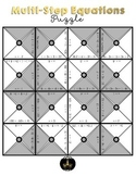 Multi-Step Equations Puzzle