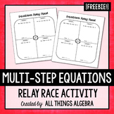 Multi-Step Equations Relay Race Activity
