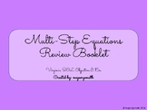 Multi-Step Equations Review Booklet