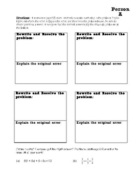 Multi-Step Equations Round Robin Activity