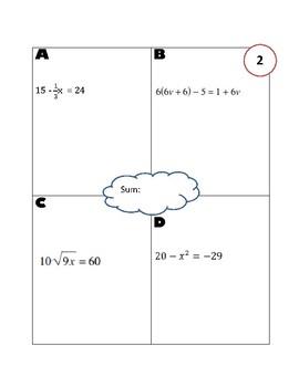 Multi Step Equations SUM it up